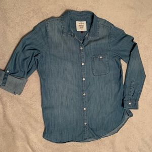 EUC Denim Button down shirt.